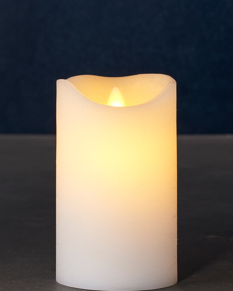 Sirius Home Sara Exclusive white Ø:7,5 H:12,5cm moving flame