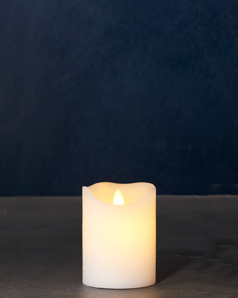 Sirius Home Sara Exclusive white Ø:7,5 H:10cm moving flame