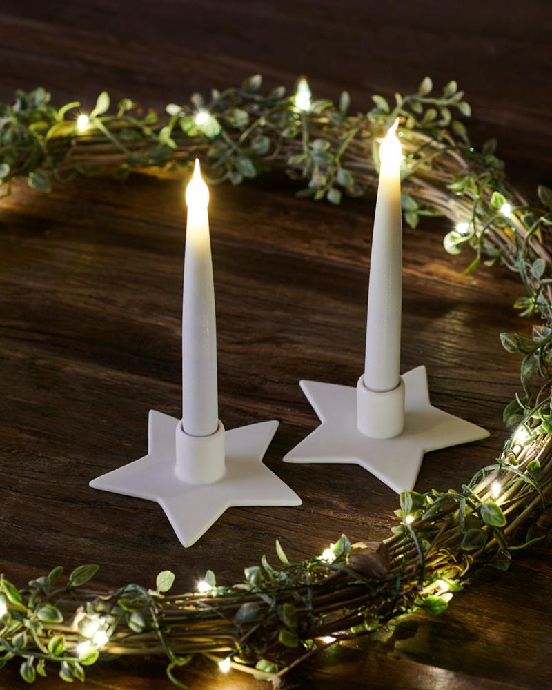 Sirius Home Olina 2 ceramic stars incl. candles H:15cm