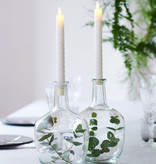 Sirius Home Sara Tall Wave 2-pack Dinner Candles white Ø:2 H:25cm movable flame