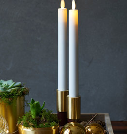 Sirius Home Sara Tall 2-pack Dinner Candles White Ø:2 H:25cm movable flame