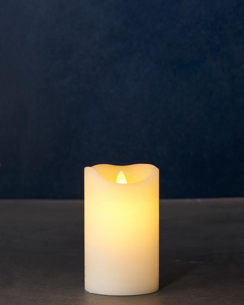 Sirius Home Sara Exclusive almond Ø:7,5 H:12,5 cm moving flame