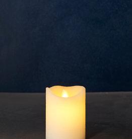 Sirius Home Sara Exclusive almond Ø:7,5 H:10 cm moving flame