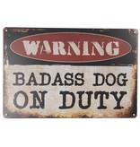 Clayre & Eef Tekstbord Badass Dog