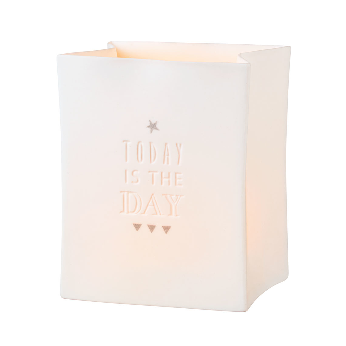 Räder Porcelain light bag Today is the day