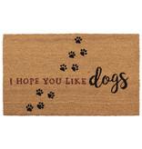 Clayre & Eef Deurmat I Hope You Like Dogs