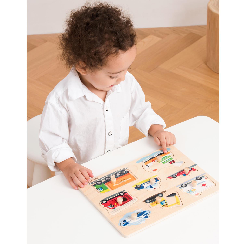 New Classic Toys Knoppuzzel - Voertuigen