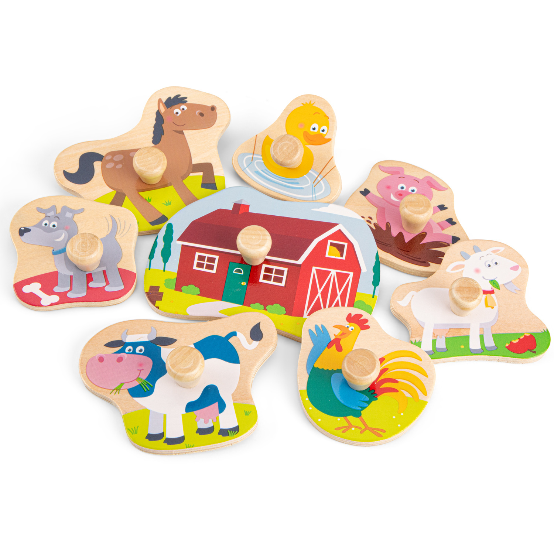 New Classic Toys Knoppuzzel - Boerderij