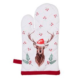 Clayre & Eef Ovenhandschoen kind Holly Christmas