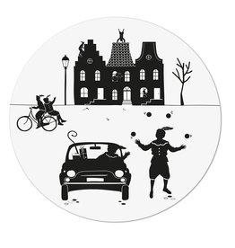 Zoedt Muurcirkel (binnen) wit Sinterklaas tafereeltje - 20cm