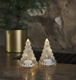 Sirius Home Lucy Tree 2 pcs, H9 cm, clear/white