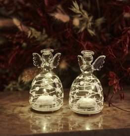 Sirius Home Sweet Christmas Angel 2 pcs, H9 cm, white/clear