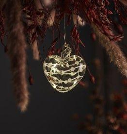 Sirius Home Sweet Christmas Hart Ø8 cm, white/clear