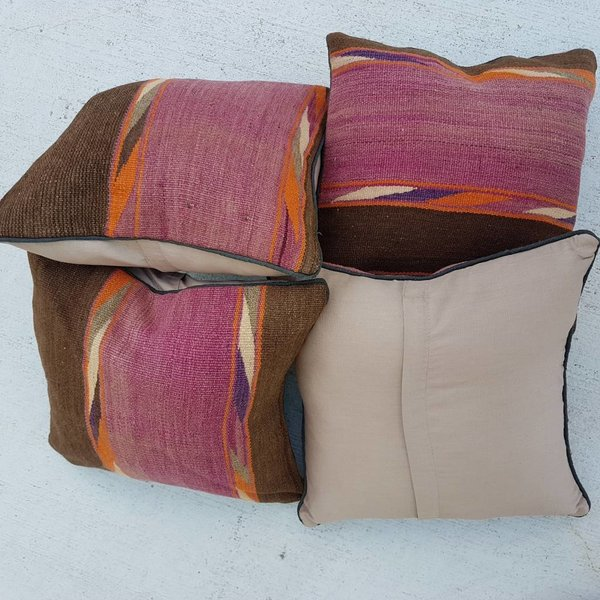 4 x kilim cushion cover 45x45 cm