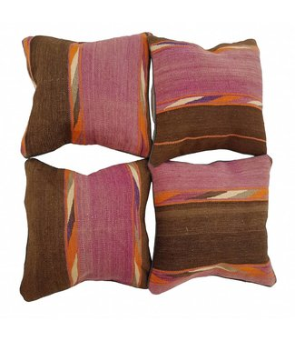 4 x kilim cushion cover 45x45 cm