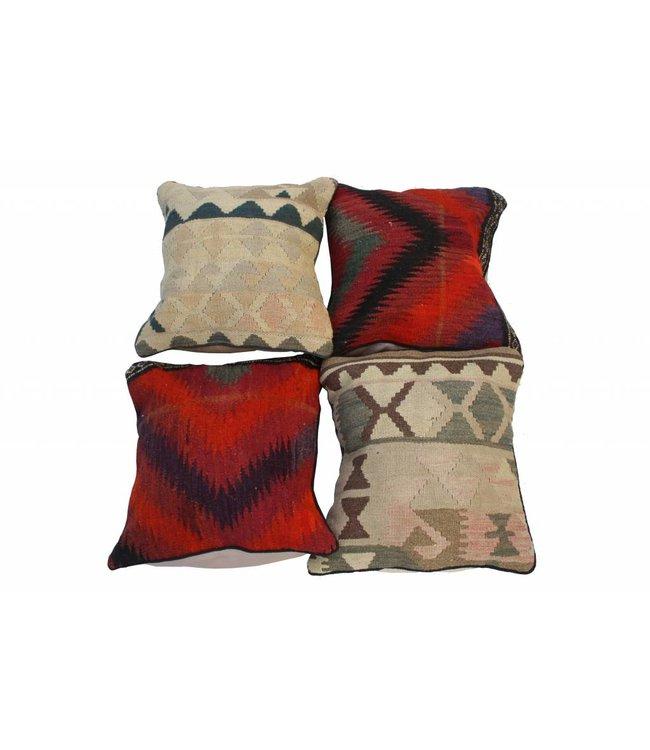 KELIMSHOP 4 x kilim cushion cover 45x45 cm