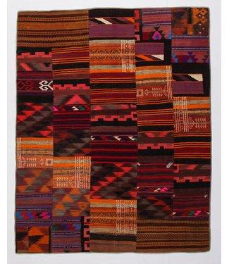 KELIMSHOP Patchwork Kilim carpet 255x203 cm