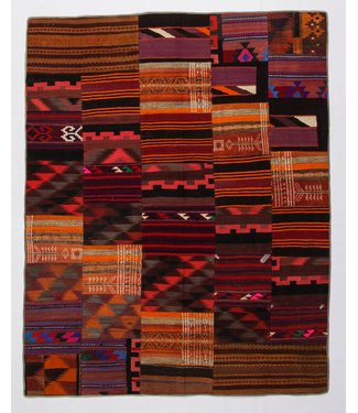 Patchwork Kilim carpet 255x203 cm