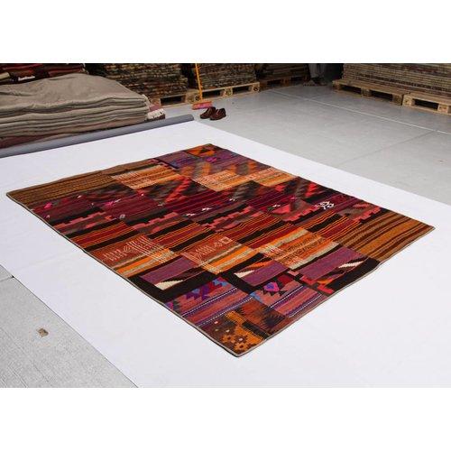 kelim patchwork tapijt 255x203 cm
