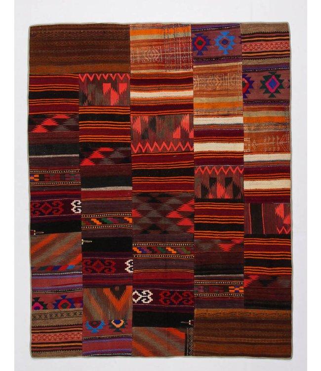 kelim patchwork tapijt 258x202 cm
