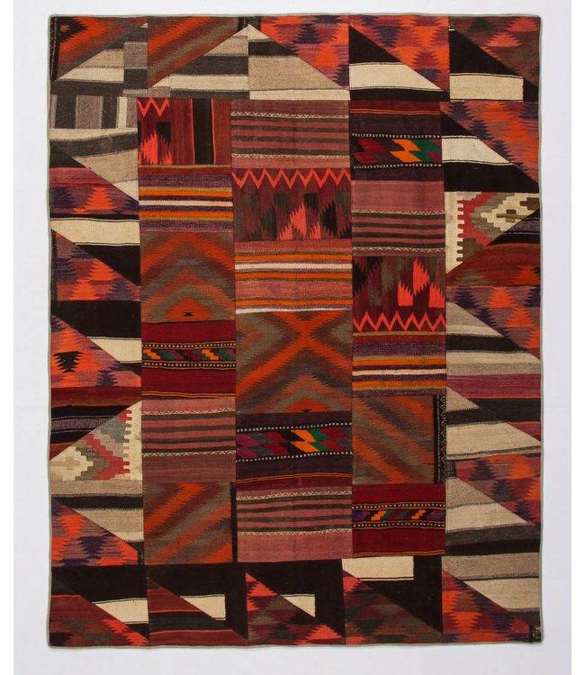 kelim patchwork tapijt 261x204 cm
