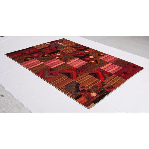 kelim patchwork tapijt 247x181 cm