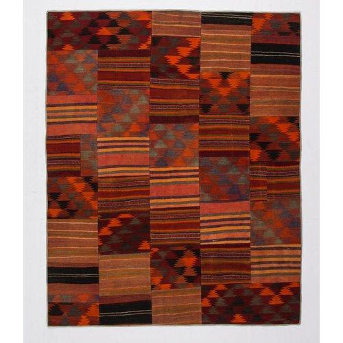kelim patchwork tapijt 249x202 cm