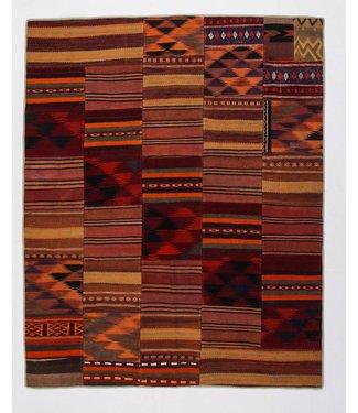 kelim patchwork tapijt 250x202 cm