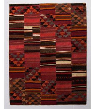 kelim patchwork tapijt 265x200 cm