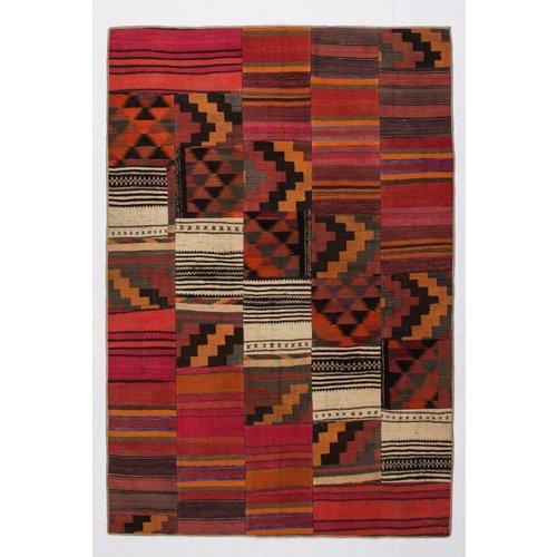 Kelimshop kelim patchwork tapijt 254x173 cm