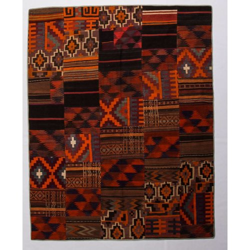 Kelimshop kelim patchwork tapijt 250x206 cm
