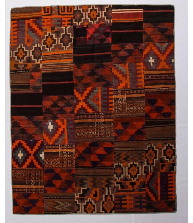 kelim patchwork tapijt 250x206 cm