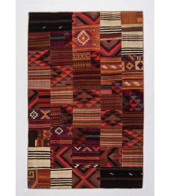 kelim patchwork tapijt 305x201 cm