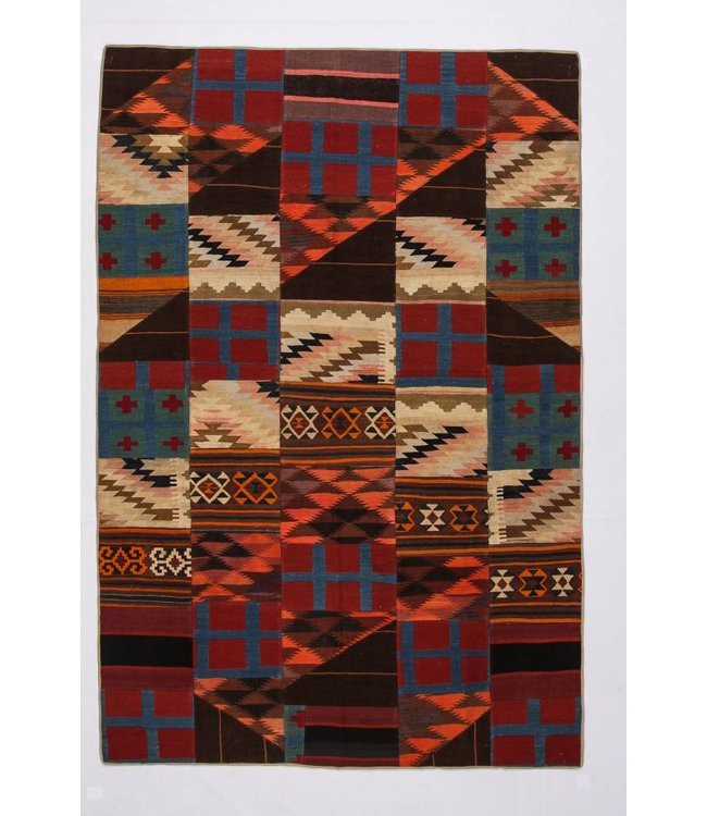 kelim patchwork tapijt 303x204 cm
