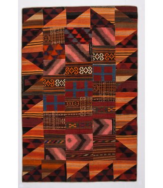 Patchwork Kilim carpet 303x201 cm