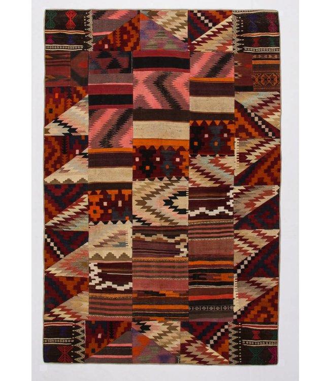 kelim patchwork tapijt 306x205 cm