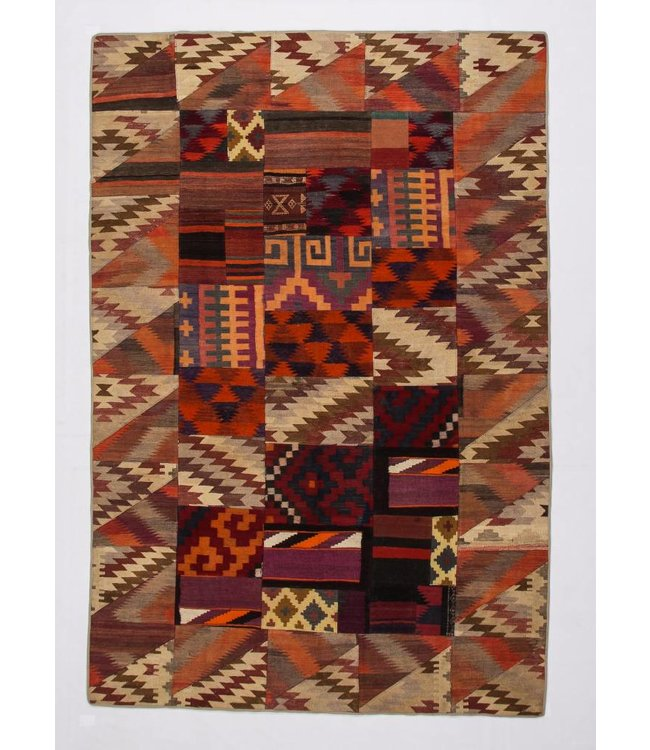 kelim patchwork tapijt 306x206 cm