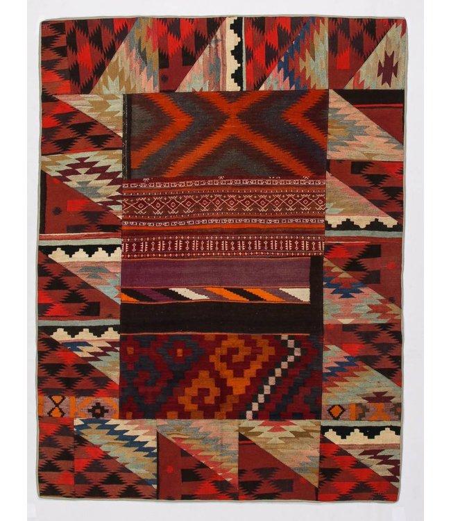 kelim patchwork tapijt 228x173 cm