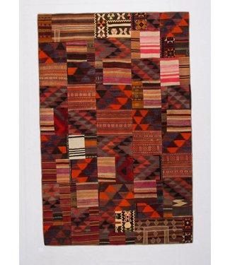 (10.10x 6.56 Feet ) Patchwork Kilim carpet 308x200 cm