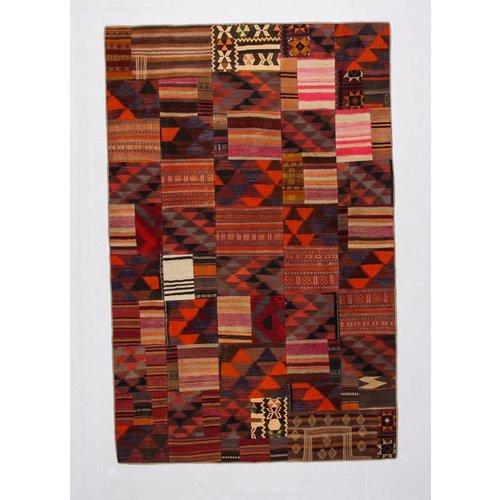 Kelimshop kelim patchwork tapijt 208x200 cm