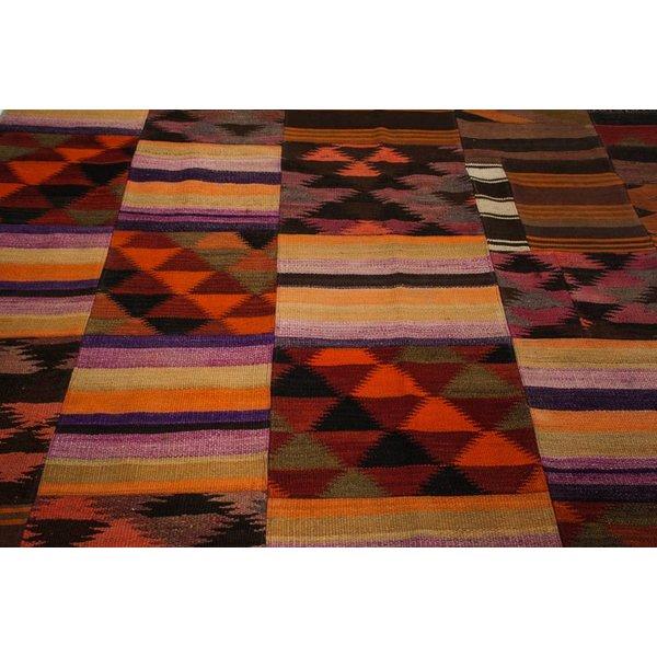 kelim patchwork tapijt 297x202 cm