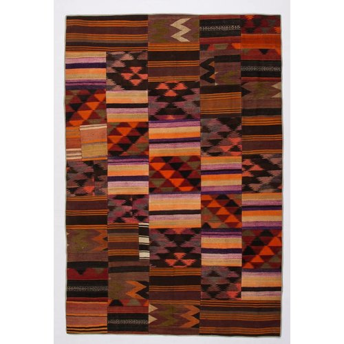 Kelimshop kelim patchwork tapijt 297x202 cm