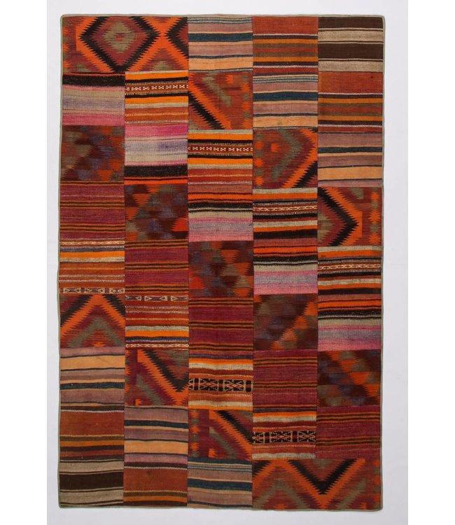 kelim patchwork tapijt 307x202 cm