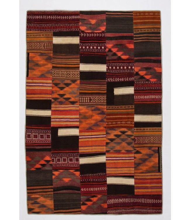 kelim patchwork tapijt 299x199 cm