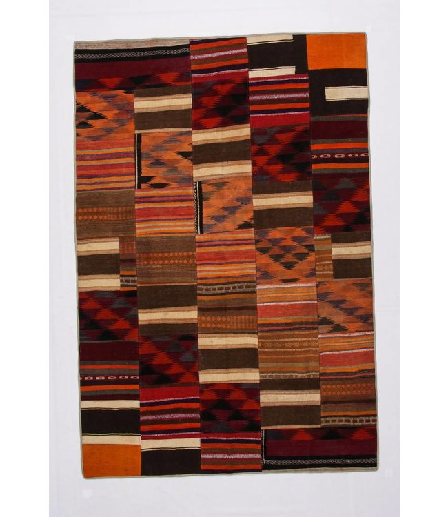 kelim patchwork tapijt 297x200 cm