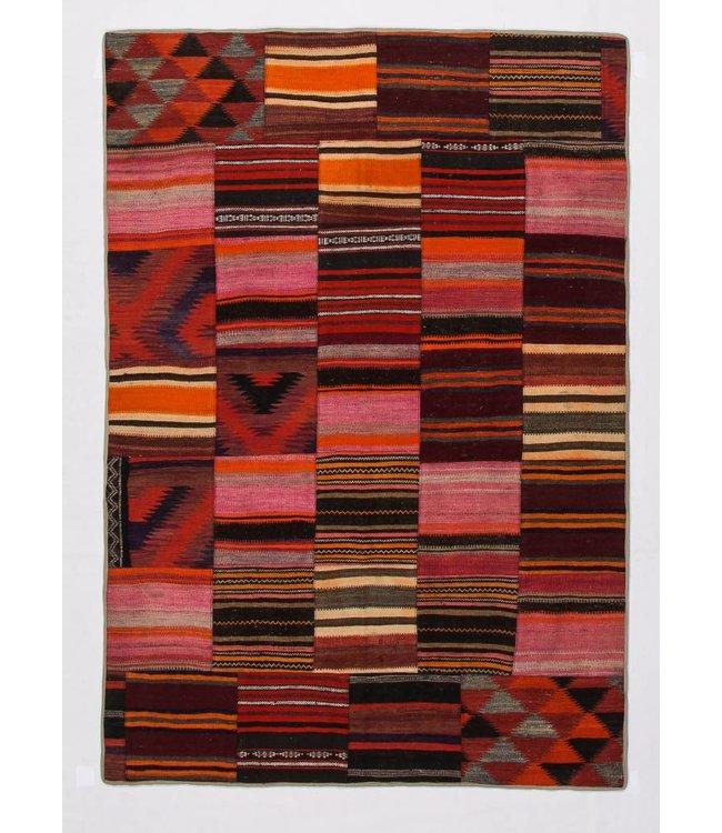 kelim patchwork tapijt 241x168 cm
