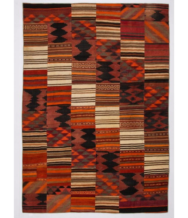 11.74x8.26 feet Patchwork Kilim carpet 358x252 cm
