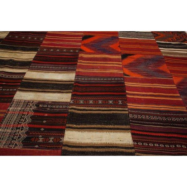 kelim patchwork tapijt 356x247 cm