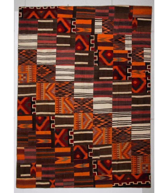 kelim patchwork tapijt 412x305 cm