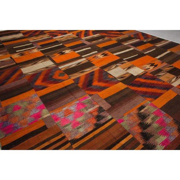 kelim patchwork tapijt 410x302 cm